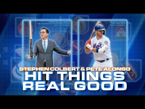 Pete Alonso & Stephen Colbert Hit Things Real Good