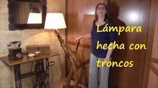 ¡Qué idea! Una lampara hecha con troncos. Presentada en el programa de TV de BRICOMANIA.