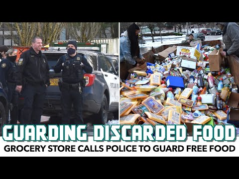 Grocery Store Calls Police To Guard Discarded Food