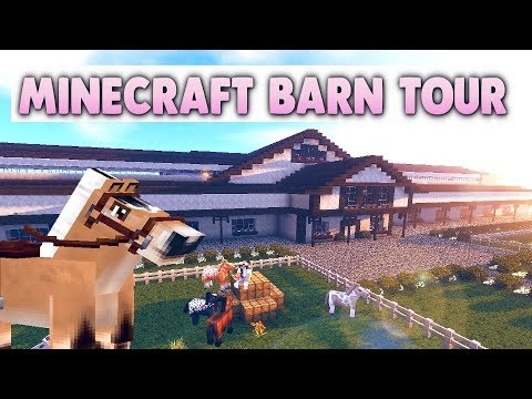 Minecraft Barn Tour 2018 - Grand Oak Stable - Violet
