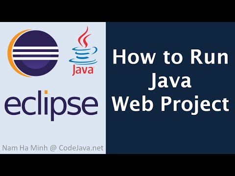 How to Run Java Web Project in Eclipse IDE