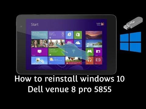 How to Install windows 10 in Dell Venue 8 Pro 5855