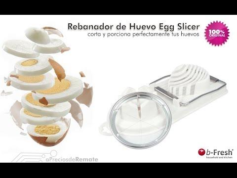 Rebanador Egg Slicer Cortador de Huevo Duro 2 en 1 Rodajas y Porciones perfectas aPreciosdeRemate