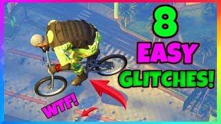 """8 FIRE Glitches Tips & Tricks! (GTA 5 Online Glitches) Float, Launch, Secret Location & MORE! 1.40"