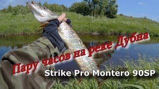 Пару часов на реке Дубна. Ловля щуки и окуня на воблеры Strike Pro.