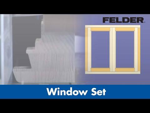 Zestaw frezów do okien IV 78 marki FELDER w jakości HW-WP