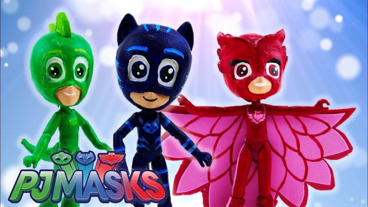 Compilation PJ Masks Custom Toys Owlette Catboy Gekko