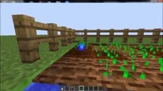 Как сделать огород в майнкрафт за 2 минуты