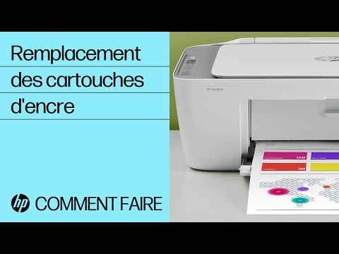 Remplacement des cartouches d'encre sur les imprimantes HP DeskJet 2700 et DeskJet Plus 4100