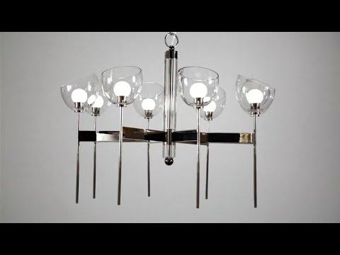 Video for Davis Polished Nickel Eight-Light LED Chandelier