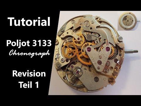 Chronograph cal. 3133 zerlegen | Revision | russisches Uhrwerk | dessemble | Tutorial