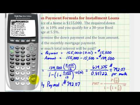 , title : 'Ex 1: Find a Monthly Mortgage Payment with a Down Payment