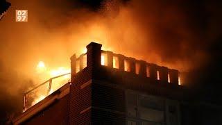 Uitslaande brand op dakterras woning Amstelhoek