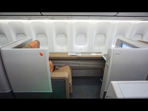 Air China 747-8 FIRST CLASS   Beijing to New York CA981