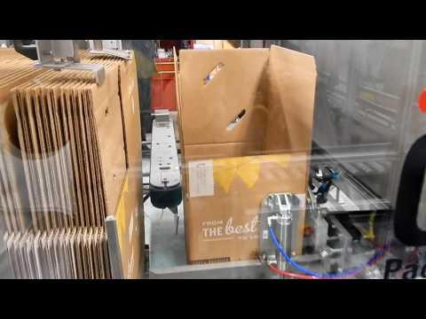 Formadora de cajas 2-EZ HS para cajas de entrega con Kit de Comida.