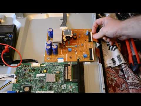 Ремонт плазменного телевизора SAMSUNG PS43D490A1W типовая неисправность