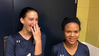 Volleyball Post-Game | FPD | Katie Peddle & MacKenzie Morris | 10-20-18