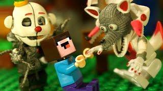 McFARLANE FNAF TOYS и Пиццерия Фредди ФНАФ и Лего НУБик Майнкрафт Мультики - Пять ночей с Фредди