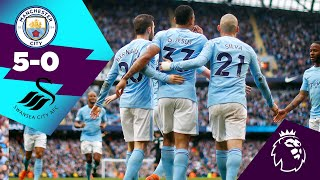 MAN CITY 5-0 SWANSEA | SILVA, STERLING, DE BRUYNE, BERNARDO, JESUS | On This Day 22nd April 2018