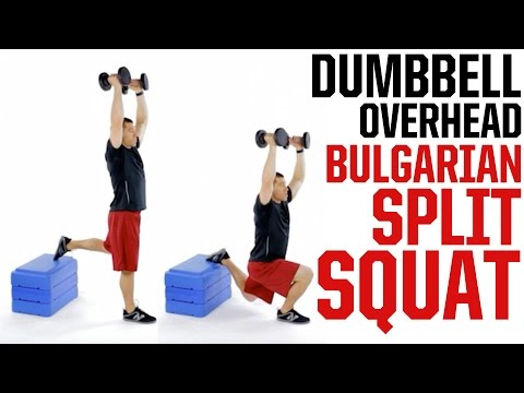 Dumbbell Overhead Bulgarian Split Squat