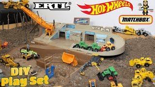 Father & Son DIY ERTL MatchBox Hot Wheels Toy Construction Truck Play Set