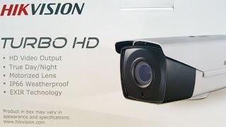 Demo of Hikvision DS-2CE16D7T IT3Z Motorized Lens Turbo HD V3.0 Bullet Camera PART 2 of 2