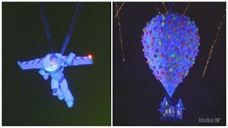 [4K] Buzz Lightyear Flying over Disneyland's Castle during Pixar Together Forever Show