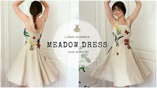 A Linen Summer Meadow Dress | Sew With Me
