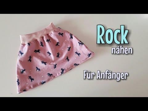 Rock Nähanleitung - Für Anfänger - OHNE Schnittmuster - Nähtinchen