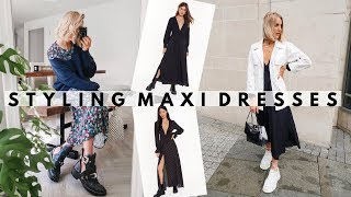 MAXI DRESSES: What To Wear With A Maxi Dress This Autumn/fall | Styling By Charlotte