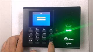 Adding User in QF40 Biometrics