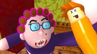 КАНИКУЛЫ у БАБУЛИ ROBLOX Побег Бабушка хочет кушать приключения мульт героя Смешное видео для детей