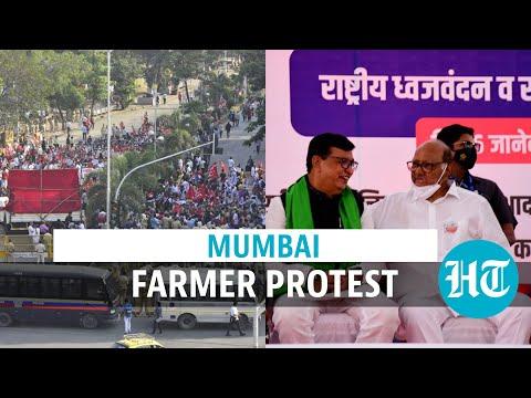 शेतकर्यांचा निषेध मुंबईत पसरला: कॉंग्रेस, राष्ट्रवादीचे नेते उपस्थित; पोलिस बंद आंदोलन