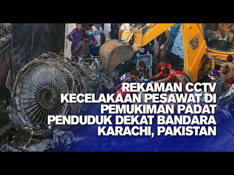 Rekaman CCTV Kecelakaan Pesawat Pakistan di Pemukiman Padat Penduduk