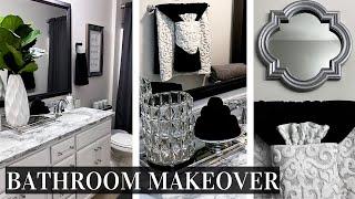 DIY BATHROOM MAKEOVER ON A BUDGET | Renter Friendly Home Improvement DIY