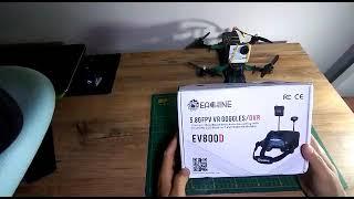 Eachine EV800D 5.8 FPV Gözlük kutu açılımı.