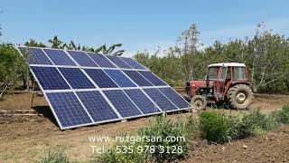 Mobil Solar Enerjili 3 HP Dalğıç Pompa Ile Tarımsal Sulama