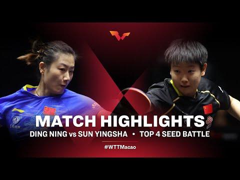 Ding Ning vs Sun Yingsha | WTT Macao Top Four HIGHLIGHTS (2020.11.27)