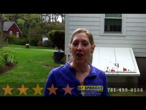 Here's a video testimonial and review from a GF Sprague customer living in Needham Mass. This particular customer hired GF Sprague to repair her roof and fix ice dam issues on her home. In the video the customer says;