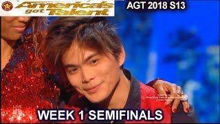 Shin Lim Part 2 with Judges Comments HE'S FUTURE HOUDINI Semifinals 1 America's Got Talent 2018 AGT