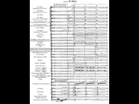 Mahler&#39s 2nd Symphony &quotResurrection&quot (Audio + Score)
