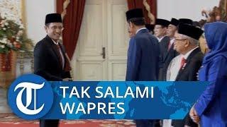 Terekam Video Nadiem Makarim Tak Salami Ibu Negara hingga Wapres Ma'ruf Amin saat Terima SK Menteri