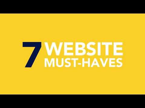 7 Website must-haves