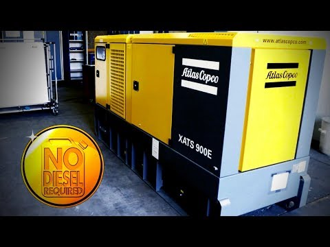 The New Portable Electric Air Compressor doesnt need diesel! Atlas Copco - zdjęcie