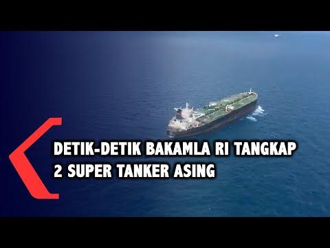 Detik-detik Bakamla RI Tangkap 2 Kapal Tanker Asing