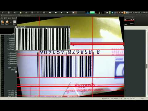Multiple Barcode Detection using ROS and OpenCV - смотреть