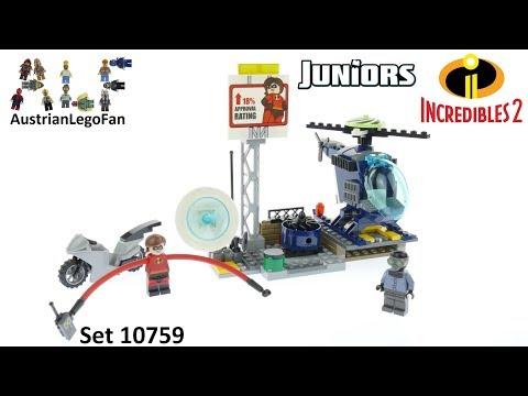 Vidéo LEGO Juniors 10759 : Les Indestructibles 2: La poursuite sur les toits d'Elastigirl