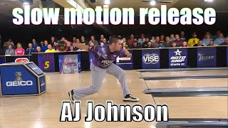 AJ Johnson slow motion release - PBA Bowling