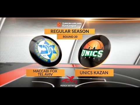 EuroLeague Highlights RS Round 20: Maccabi FOX Tel Aviv 60-52 Unics Kazan