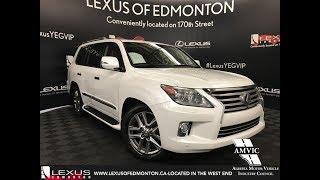 Used White 2013 Lexus LX 570 Ultra Premium Package Review Sherwood Park Alberta
